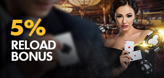 LIVE CASINO 5% DAILY RELOAD BONUS