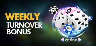 LIVE CASINO WEEKLY TURNOVER BONUS MYR 1,288