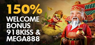 MEGA & KISS 150% WELCOME BONUS