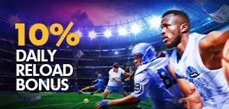 SPORTS 10% DAILY RELOAD BONUS