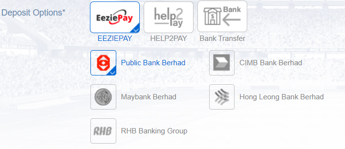 deposit option