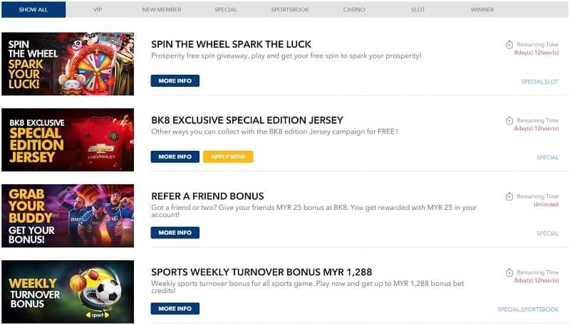 bk8 online casino promo
