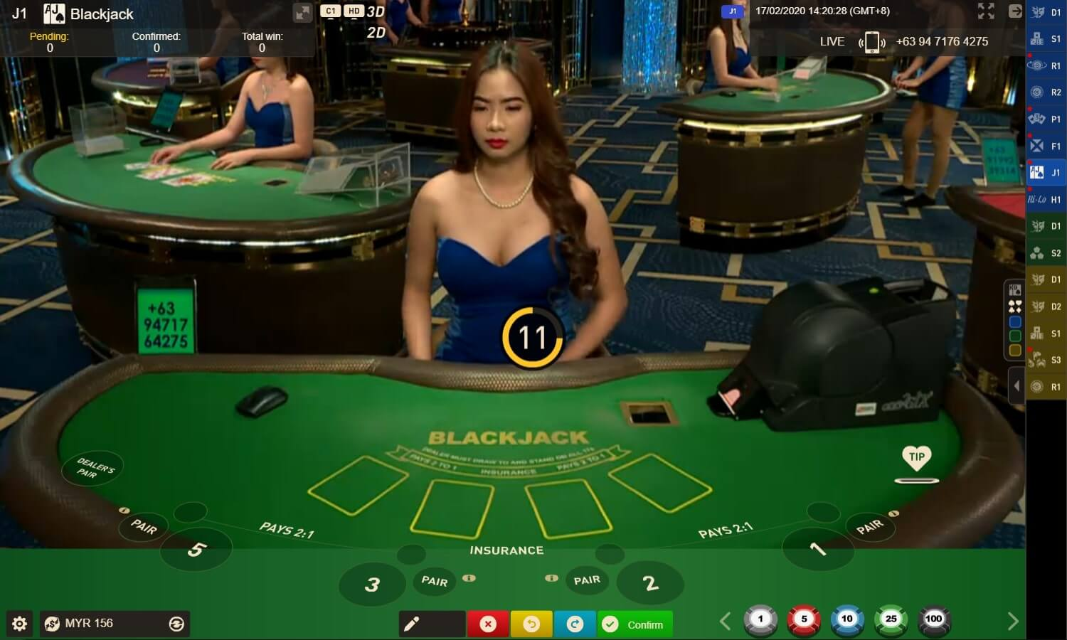 gameplay blackjack