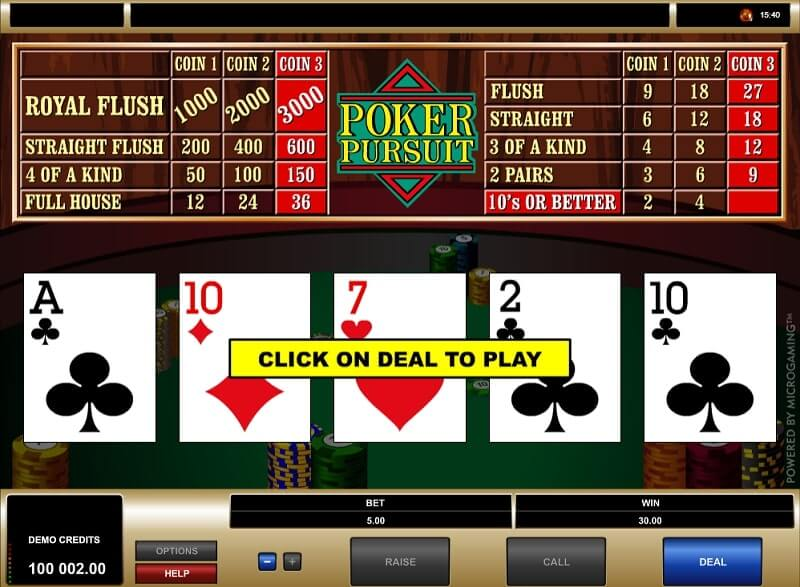 microgaming poker pursuit