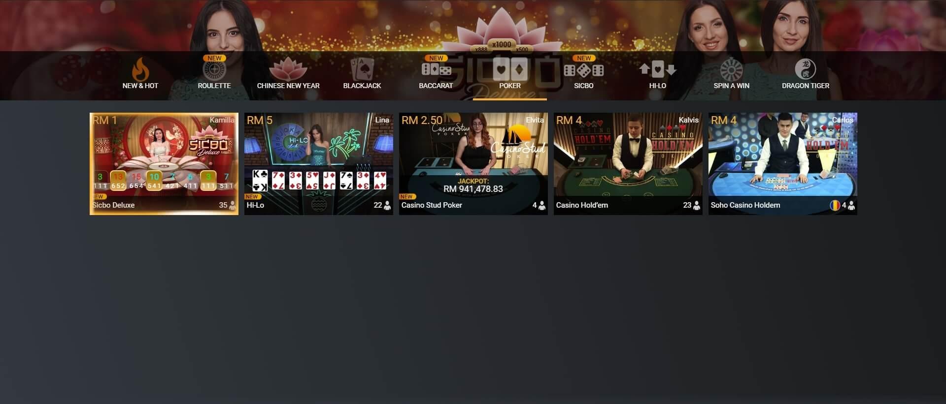 playtech poker games