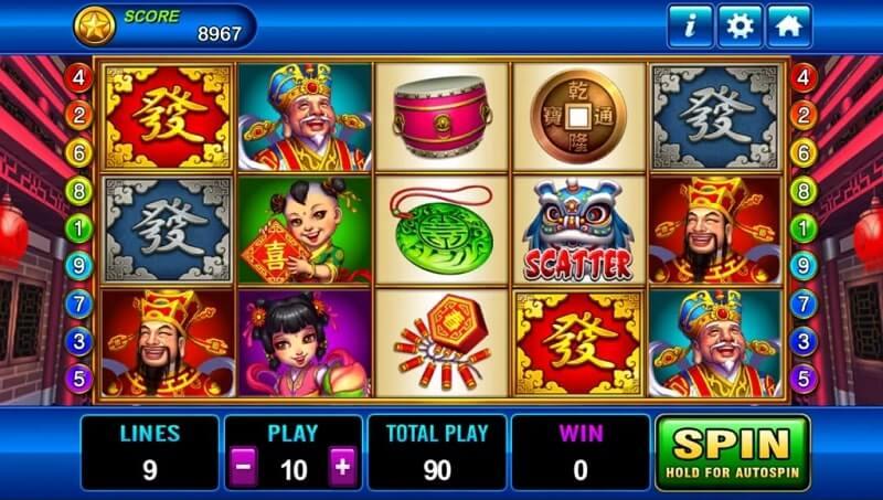 3win8 god of wealth slot game