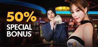 VIP LIVE CASINO 50% SPECIAL BONUS