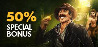 VIP SLOTS & FISHING 50% SPECIAL BONUS