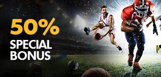 VIP SPORTS 50% SPECIAL BONUS