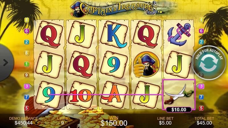 captains treasure gameplay