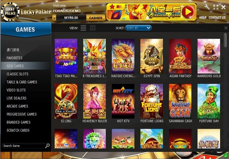lucky palace games