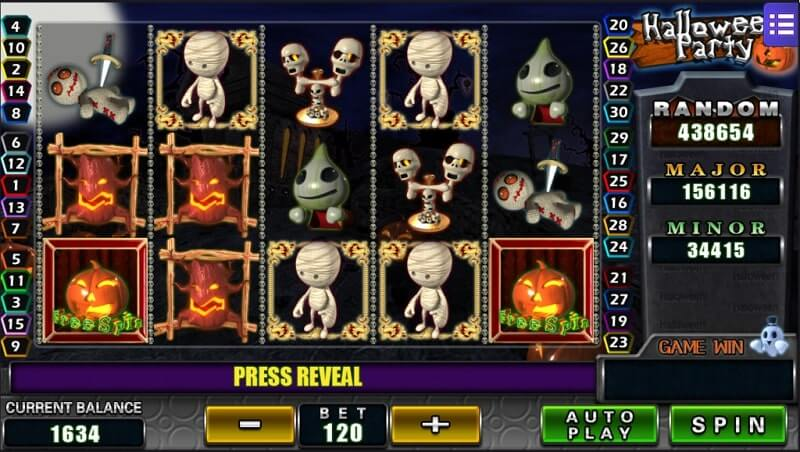 online casino halloween party