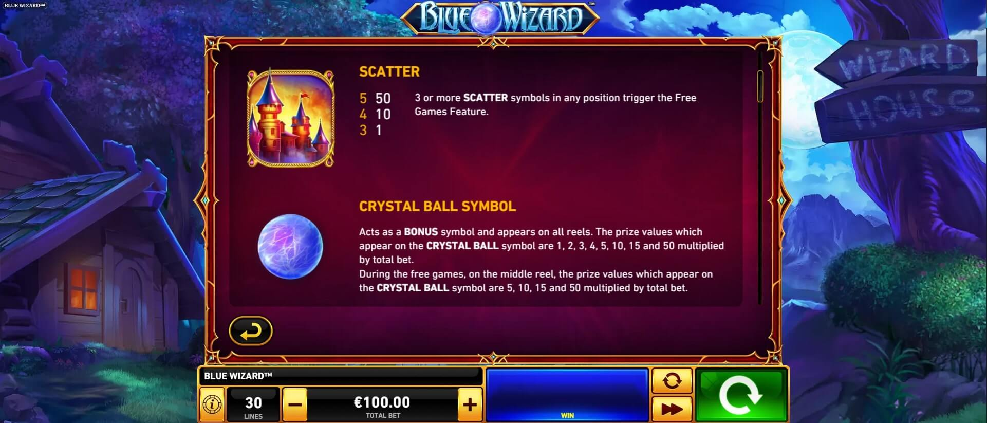 blue wizard scatter crystal ball
