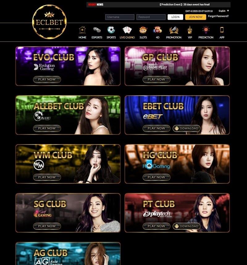 eclbet live casino