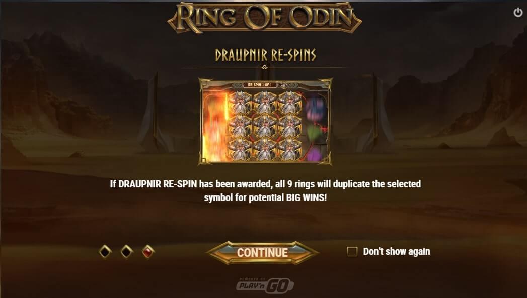 ring of odin draupnir re-spins