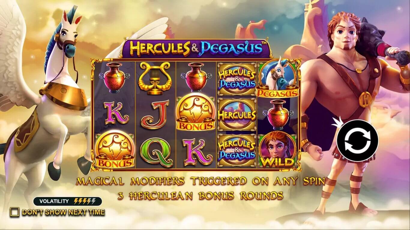 Hercules and pegasus themed slot game