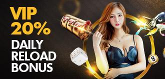 VIP DAILY 20% RELOAD BONUS