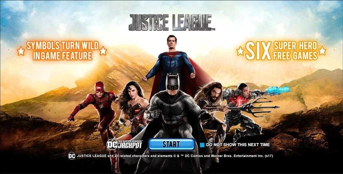justice league slot game playtech