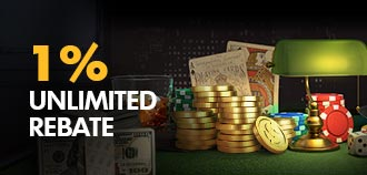 LIVE CASINO 1% CASH REBATE
