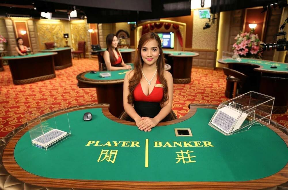 baccarat beautiful live dealer casino game